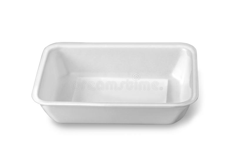 Boîte en plastique à nourriture photos stock