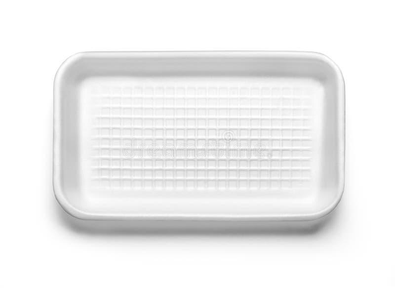 Boîte en plastique à nourriture d'isolement photos stock