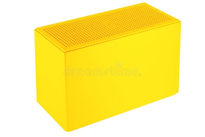 Boîte en plastique jaune illustration de vecteur