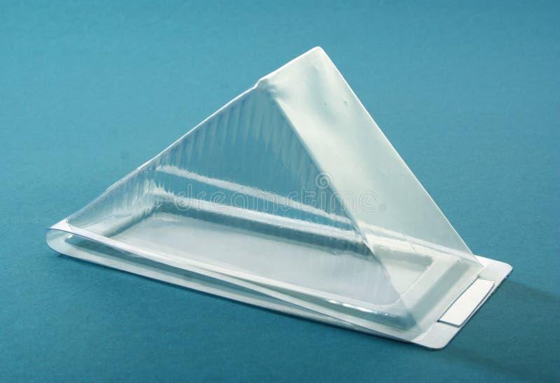 Boîte en plastique transparente photo libre de droits