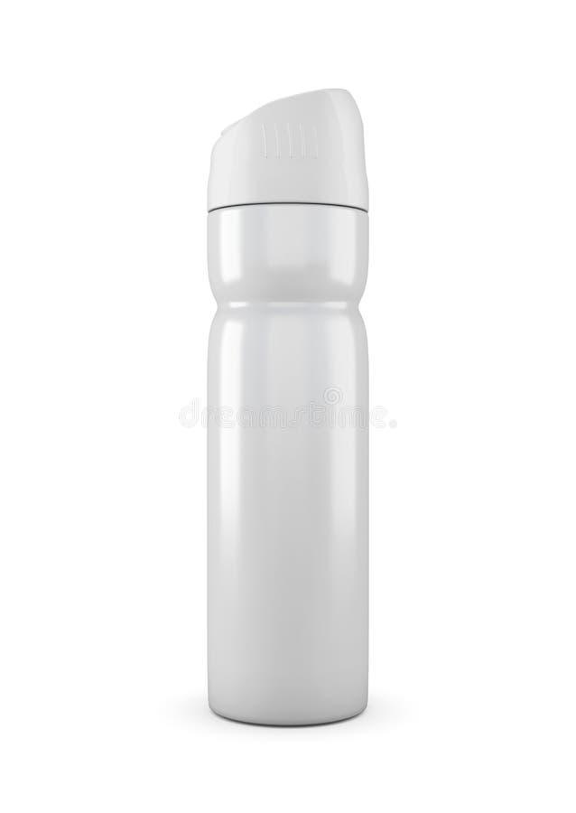 Boîte fermée de bouteille en métal de jet d'aérosol illustration stock
