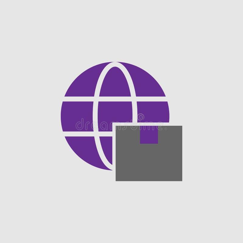 Boîte, icône globale Élément d'icône de la livraison et de logistique pour des applis mobiles de concept et de Web La boîte détai illustration stock