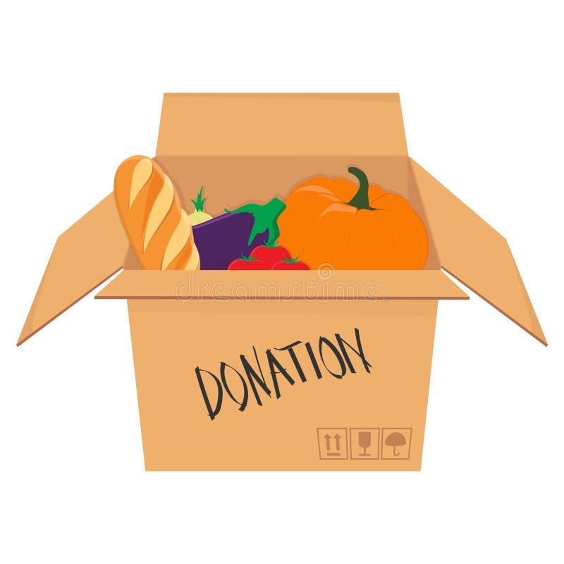Boîte isométrique de donation illustration stock