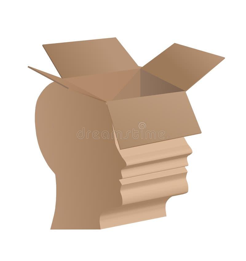 Boîte - la tête humaine illustration stock