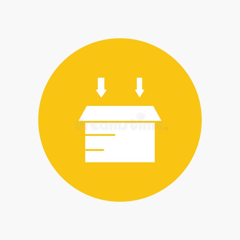 Boîte, logistique, ouverte illustration stock