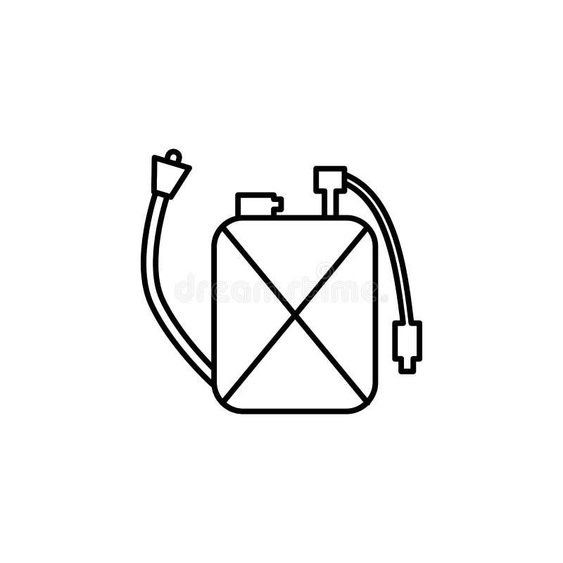 boîte métallique avec l'icône de poison Élément d'icône de parasite pour les apps mobiles de concept et de Web La ligne mince boî illustration de vecteur