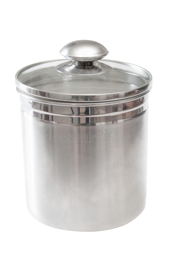 Boîte métallique de sucre d'acier inoxydable photo libre de droits