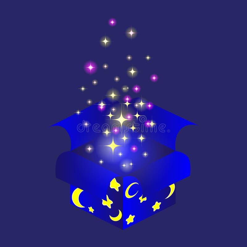 Boîte magique de nuit photographie stock
