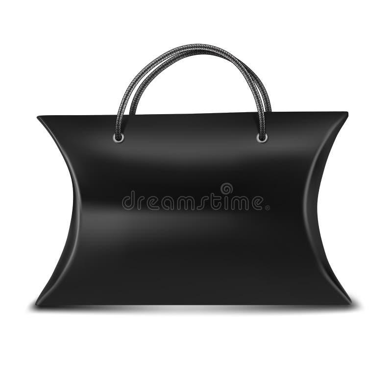 Boîte noire d'oreiller pour le cadeau contre la poignée illustration libre de droits