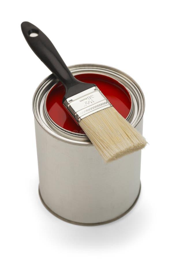 Boîte ouverte de peinture image stock