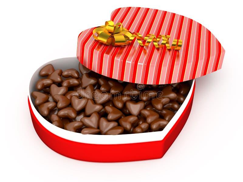 Boîte pour le présent de Valentine photos stock