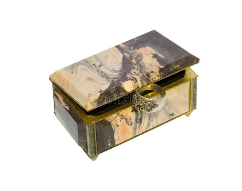 Boîte pour le stockage de bijoux image libre de droits