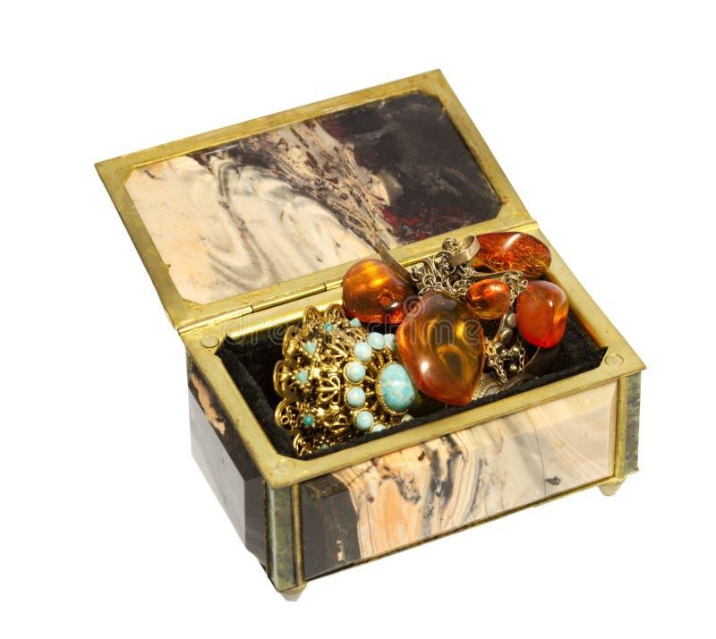 Boîte pour le stockage de bijoux photographie stock libre de droits