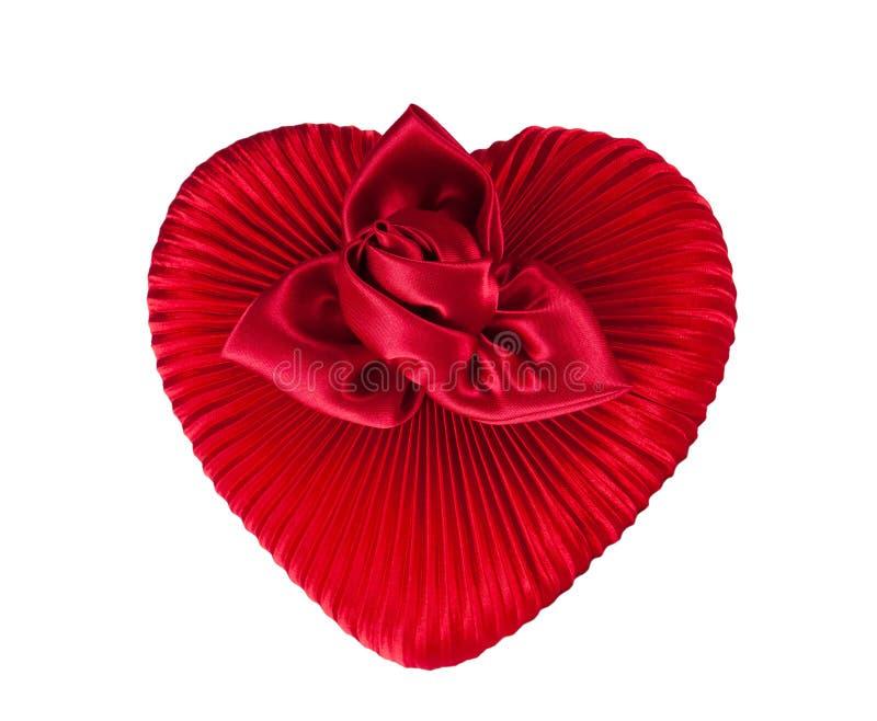 Download Boîte rouge de coeur photo stock. Image du cadre, décoratif - 77163420