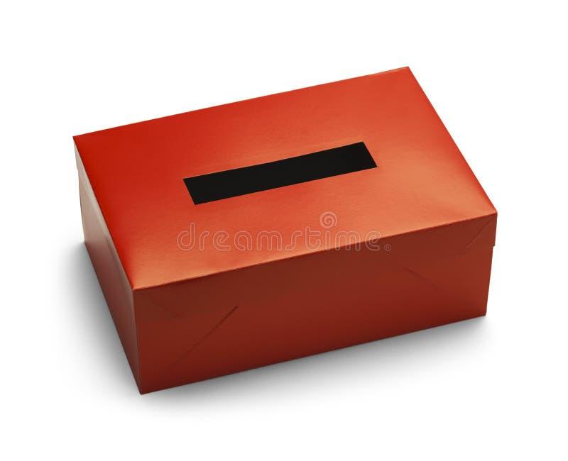 Boîte rouge de vote images libres de droits