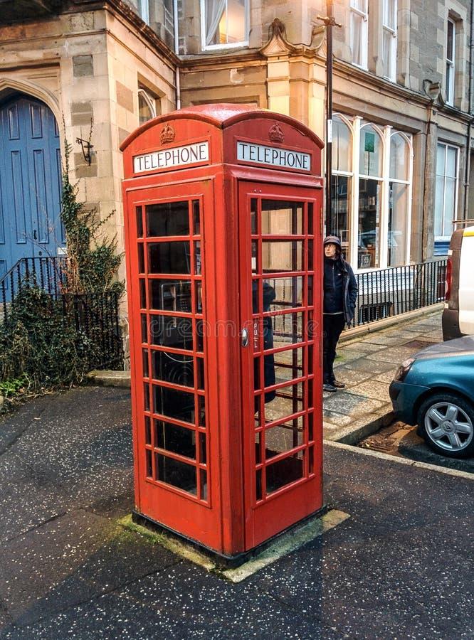Boîte royale de téléphone photographie stock