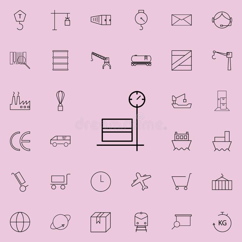 boîte sur l'icône de cargaison d'échelle de stockage Ensemble universel d'icônes de logistique pour le Web et le mobile illustration libre de droits