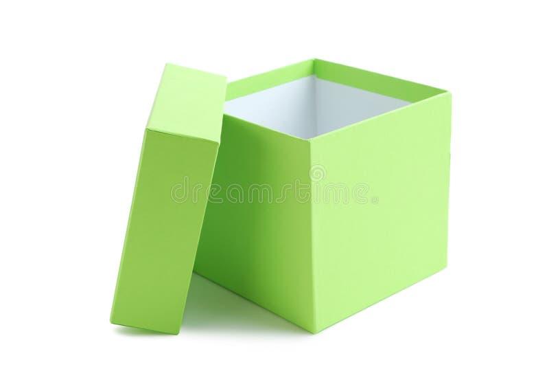 Boîte verte photographie stock libre de droits