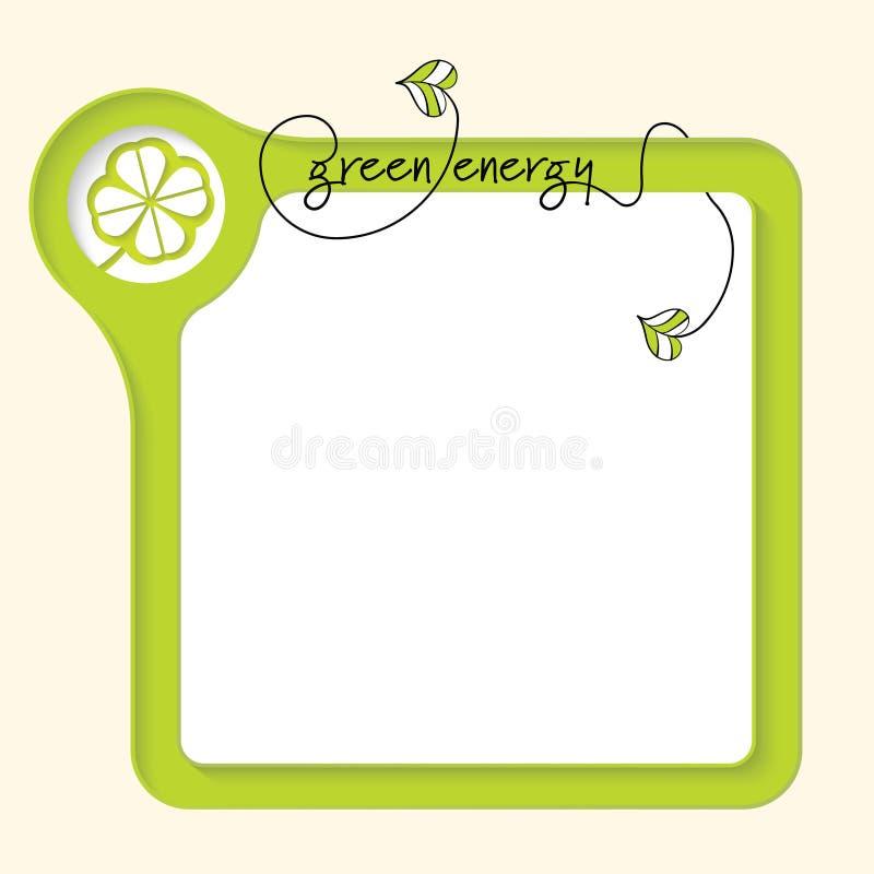 Boîte verte de vecteur illustration stock