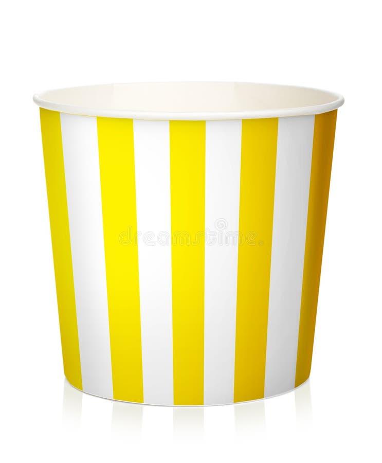 Boîte vide à maïs éclaté images stock
