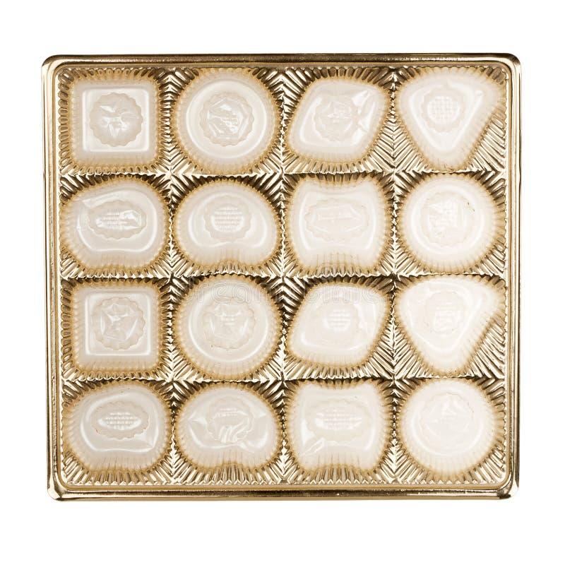 Boîte vide de chocolats photo libre de droits