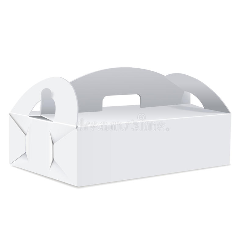 Boîte vide de paquet avec la poignée illustration de vecteur