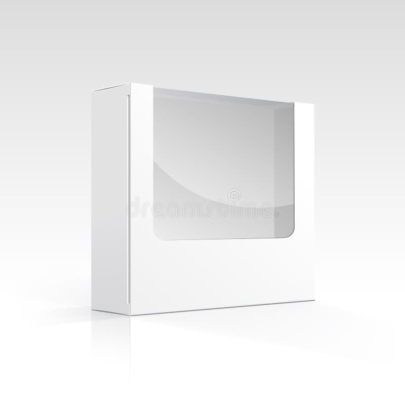 Boîte vide de vecteur avec la fenêtre transparente illustration libre de droits