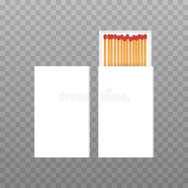 Boîte vide ouverte par vecteur de vue supérieure de matchs rouges Illustration courante de vecteur illustration stock