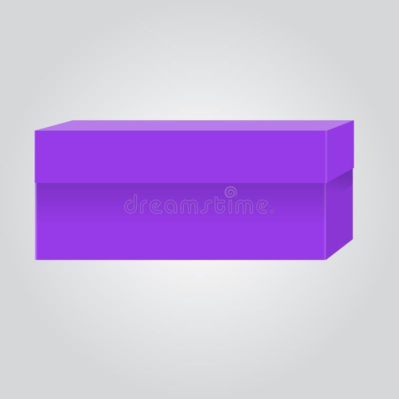 Boîte vide pour votre conception et logo de marquage à chaud Facile de changer des couleurs Couleur violette ou pourpre à la mode illustration de vecteur