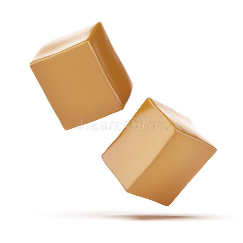 Boîtes à caramel illustration libre de droits