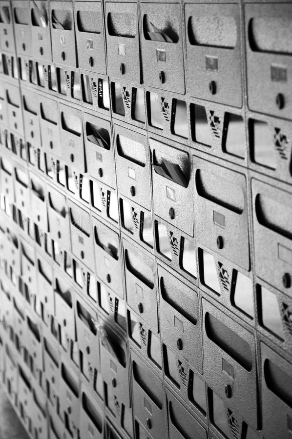 Boîtes aux lettres image stock