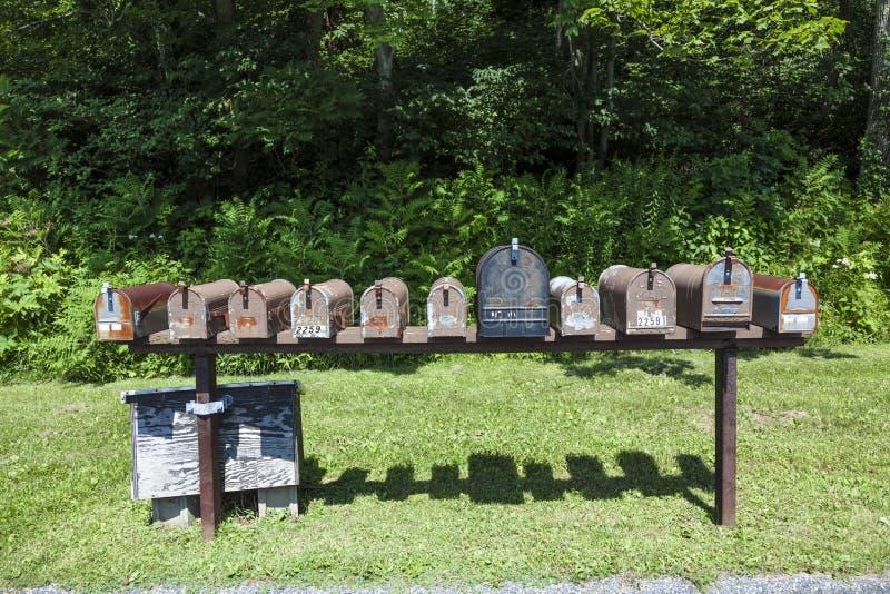 Boîtes aux lettres dans le ressortissant de shenandoah photo stock