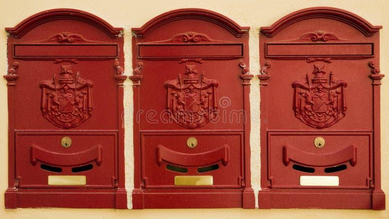 boîtes aux lettres de l'Italie de cortona photos libres de droits