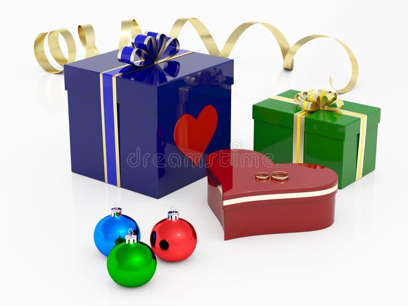 Boîtes-cadeau illustration libre de droits