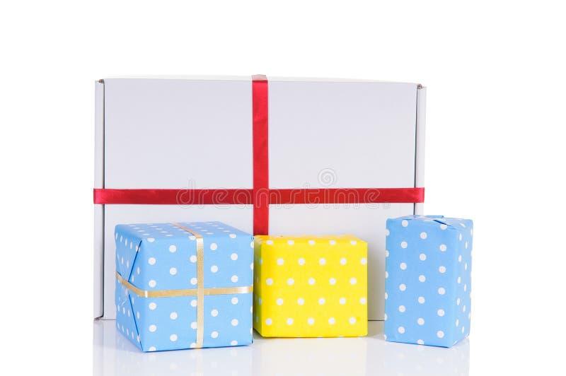 Boîtes-cadeau de Noël images stock