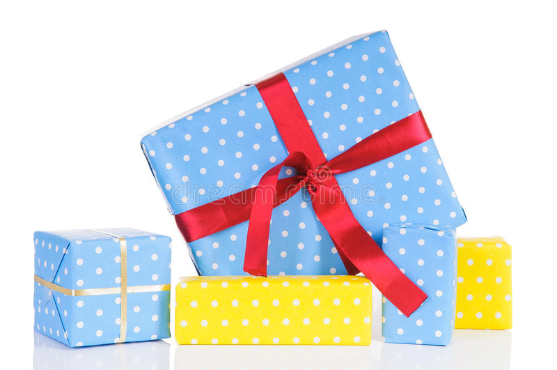 Boîtes-cadeau de Noël photographie stock