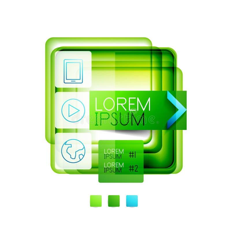 Boîtes carrées de web design - illustration de vecteur illustration libre de droits