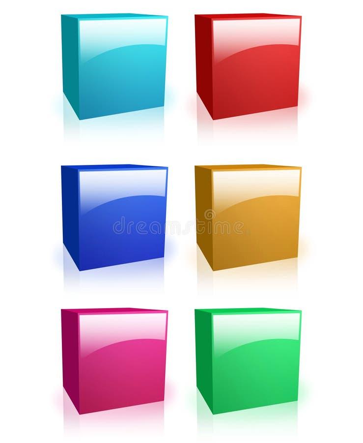 Boîtes colorées photographie stock