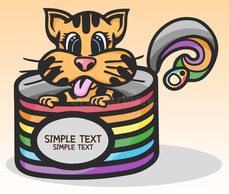 Boîtes colorées de petit chat mignon photographie stock libre de droits