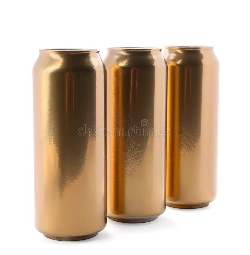Boîtes de bière image stock