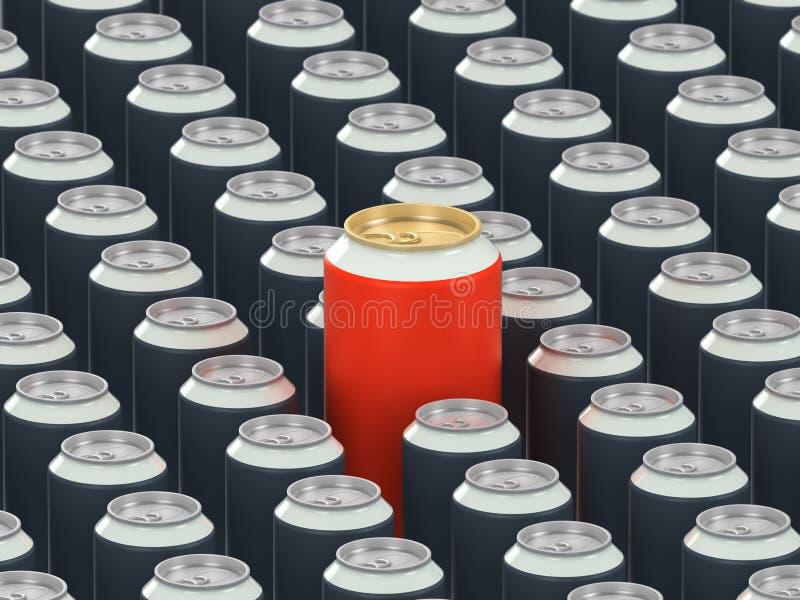 Boîtes de boissons illustration stock