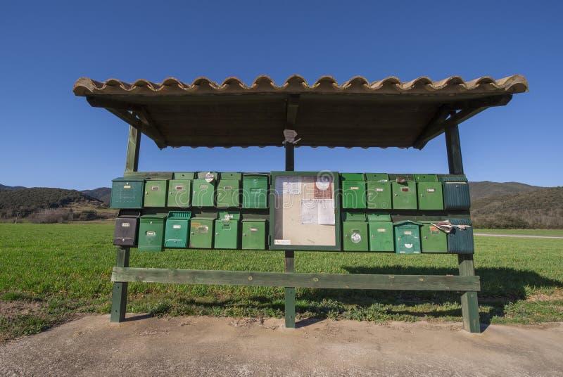 Boîtes de courrier photo libre de droits
