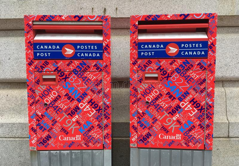 Boîtes de courrier de courrier de Canada image stock