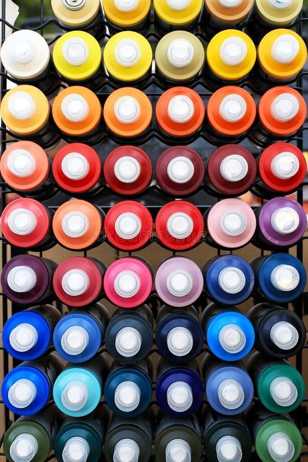 Boîtes de jet de peinture photographie stock libre de droits