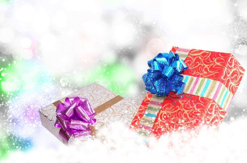 Boîtes de la nouvelle année Holiday.Christmas.Gift images libres de droits