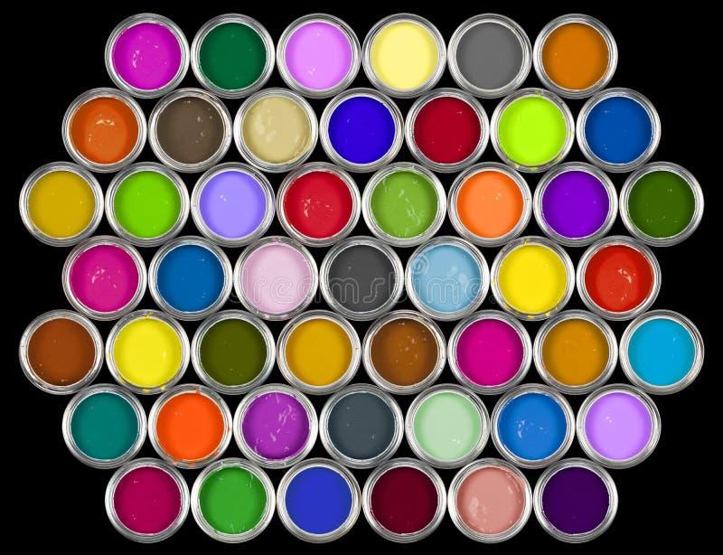 Boîtes de la peinture photos libres de droits