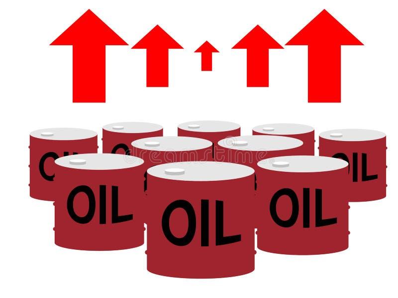 Boîtes de tambour d'huile et de flèches hautes illustration libre de droits