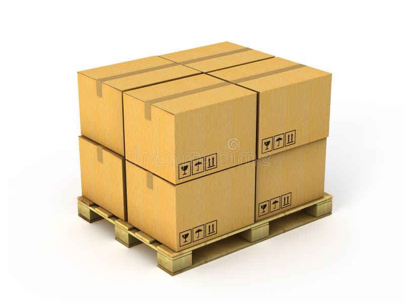 Boîtes en carton illustration de vecteur