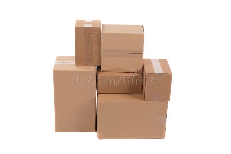 Boîtes en carton images libres de droits