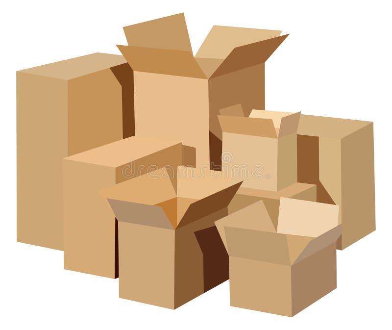 Boîtes en carton illustration libre de droits
